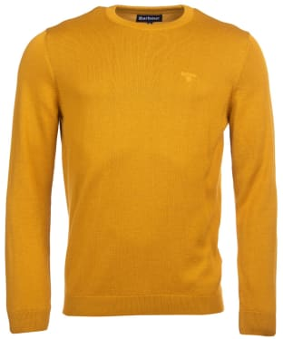 Men's Barbour Pima Cotton Crew Neck Sweater - Golden