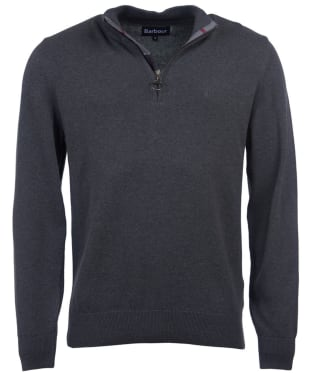 Men's Barbour Cotton Half Zip Sweater - Charcoal Marl