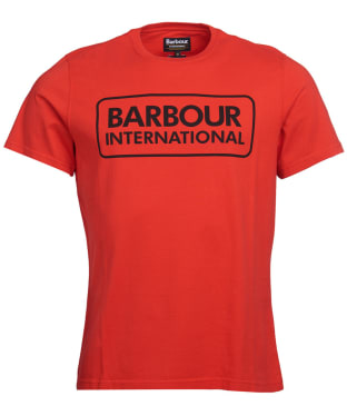 Men's Barbour International Essential Large Logo Tee - Lava