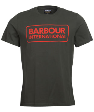 Men's Barbour International Essential Large Logo Tee - Jungle Green