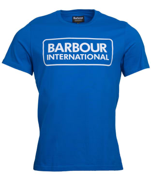 Men's Barbour International Essential Large Logo Tee - Neela Blue
