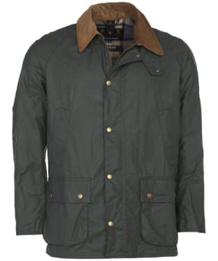 Men's Barbour Lightweight Ashby Waxed Jacket - Light Forest