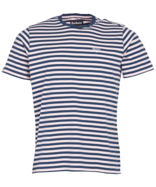 Men's Barbour Delamere Stripe Tee - Chalk Pink