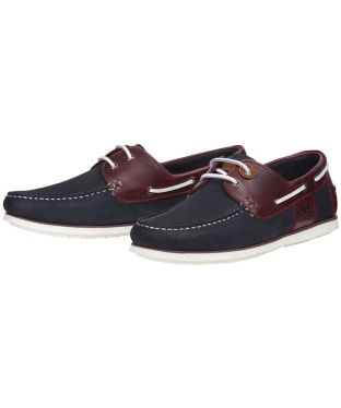 Men's Barbour Capstan Boat Shoes - NAVY/WINE