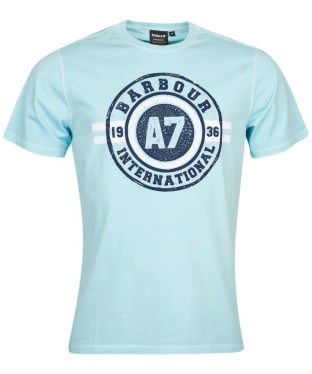 Men's Barbour International A7 Edition Tee - Washed Opal