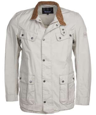 Men's Barbour International Summer Wash Duke Casual Jacket - Clay