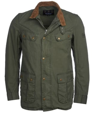Men's Barbour International Summer Wash Duke Casual Jacket - Racing Green