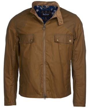 Men's Barbour International Steve McQueen Wilkin Waxed Jacket - Sand