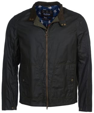 Men's Barbour International Steve McQueen Johnida Waxed Jacket - Forest