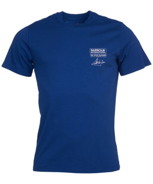 Men's Barbour International Steve McQueen Signature Tee - Inky Blue