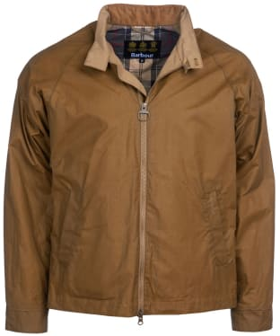 Men's Barbour Ender Waxed Jacket - Sand