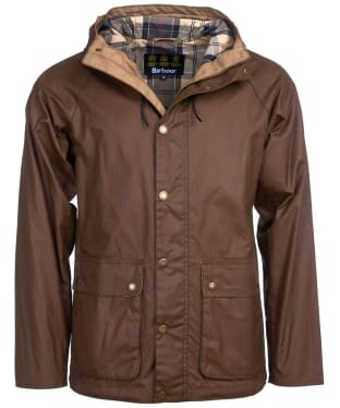 Men's Barbour Dolgo Waxed Jacket - Sand