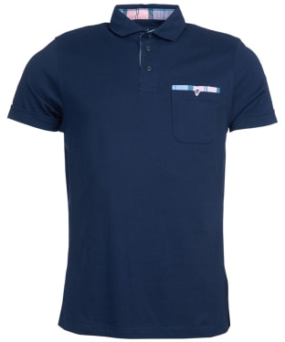 Men's Barbour Corpatch Cotton Jersey Polo Shirt - Navy