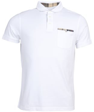 Men's Barbour Corpatch Cotton Jersey Polo Shirt - White