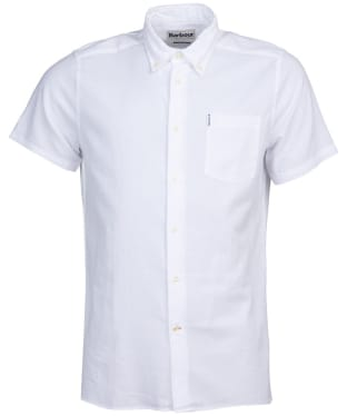 Men's Barbour Oxford 9 S/S Tailored Shirt - White