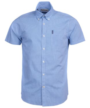 Men's Barbour Gingham 17 S/S Tailored Shirt - Aqua