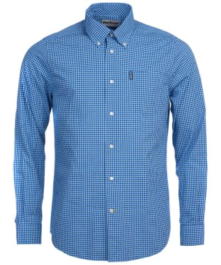 Men's Barbour Gingham 19 Tailored Shirt - Navy