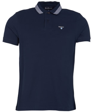 Men's Barbour Keer Tipped Polo Shirt - Navy