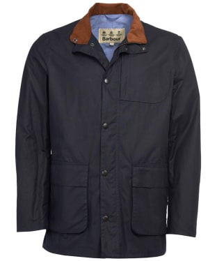 Men's Barbour Adderton Waxed Jacket - Navy