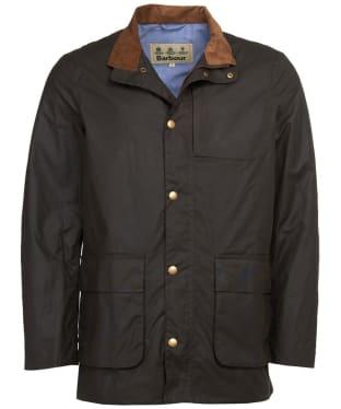 Men's Barbour Adderton Waxed Jacket - Olive