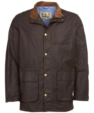 Men's Barbour Adderton Waxed Jacket - Peat