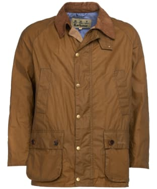Men's Barbour Hopsack Lightweight Waxed Jacket - Sand
