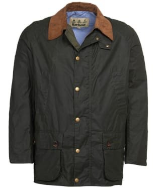 Men's Barbour Hopsack Lightweight Waxed Jacket - Forest