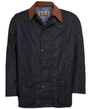 Men's Barbour Hopsack Lightweight Waxed Jacket - Royal Navy