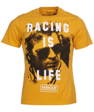 Men's Barbour International Steve McQueen Life Tee - Desert Orange