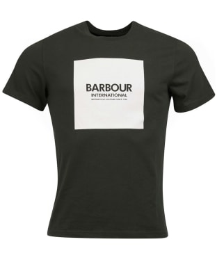 Men's Barbour International Block Tee - Jungle Green