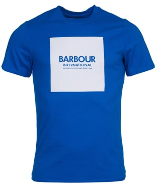 Men's Barbour International Block Tee - Neela Blue