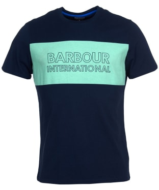 Men's Barbour International Panel Logo Tee - Navy