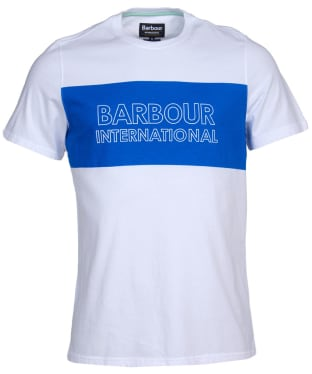 Men's Barbour International Panel Logo Tee - White
