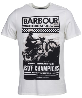 Men's Barbour International Archieve Comp Tee - Whisper White