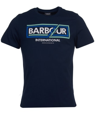 Men's Barbour International Compressor Tee - Navy