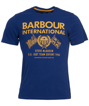 Men's Barbour International Steve McQueen Race Flags Tee - Inky Blue