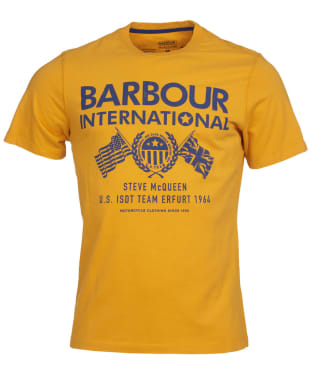 Men's Barbour International Steve McQueen Race Flags Tee - Desert Orange