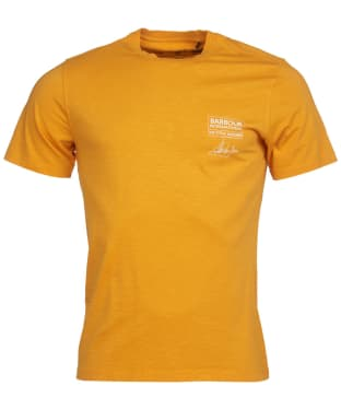 Men's Barbour International Steve McQueen Signature Tee - Desert Orange