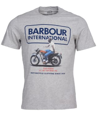 Men's Barbour International Steve McQueen Relaxed Tee - Grey Marl