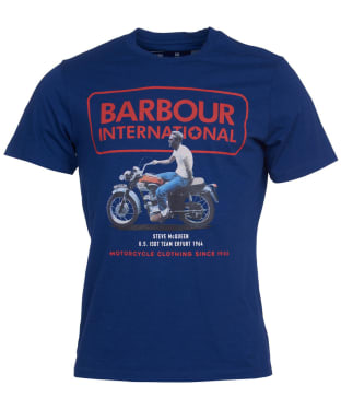 Men's Barbour International Steve McQueen Relaxed Tee - Inky Blue