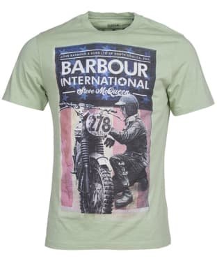 Men's Barbour International Steve McQueen Fixer Tee - Vintage Green