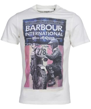 Men's Barbour International Steve McQueen Fixer Tee - Whisper White