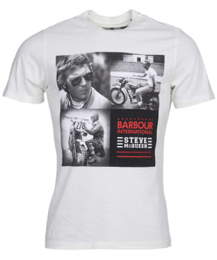Men's Barbour International Steve McQueen Triple Tee - Whisper White