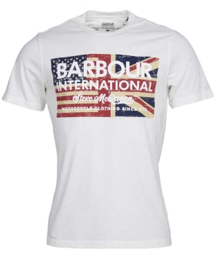 Men's Barbour International Steve McQueen Vintage Flag Tee - Whisper White