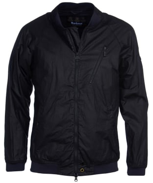 Men's Barbour International Glendale Waxed Jacket - Black