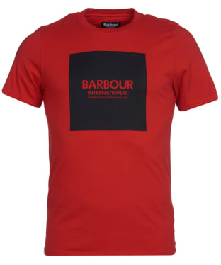Men's Barbour International Block Tee - Lava