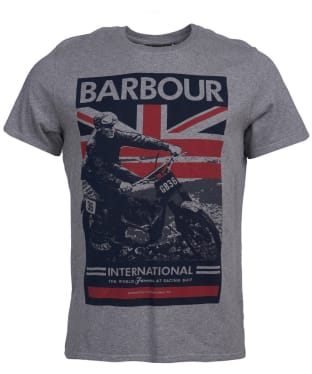 Men's Barbour International Archieve Comp Tee - Anthracite Marl