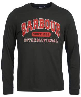 Men's Barbour International Collegiate L/S Tee - Jungle Green