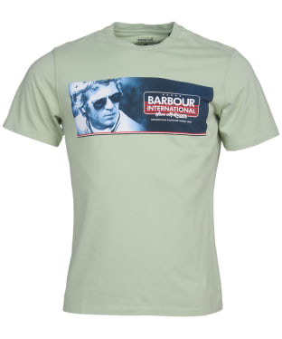 Men's Barbour International Steve McQueen Pinstripe Tee - Vintage Green