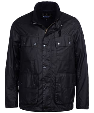 Men's Barbour International Alford Waxed Jacket - Black